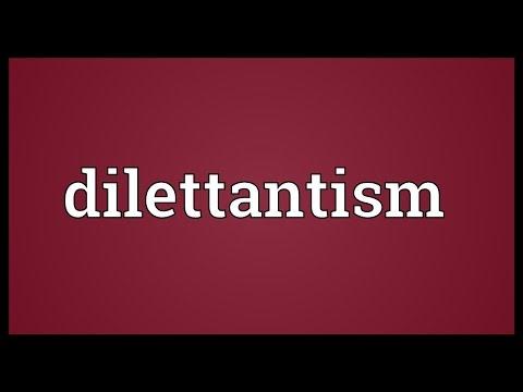 Header of dilettantism