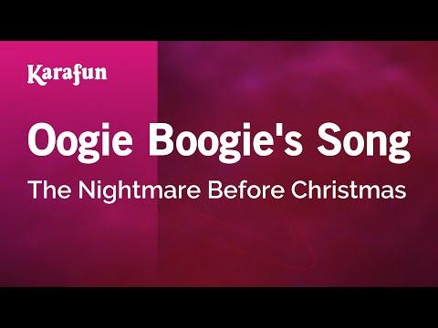 Karaoke Oogie Boogie's Song - The Nightmare Before Christmas *