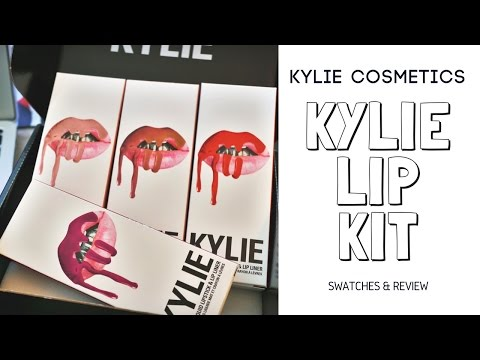 Kylie Lip Kit Swatches & Review   Son Kem Lì Tốt Nhất?