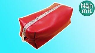 Mäppchen Nähen | Tasche mit Reißverschluss | Federmäppchen Schule | Nähen für Anfänger | Näh mit mir