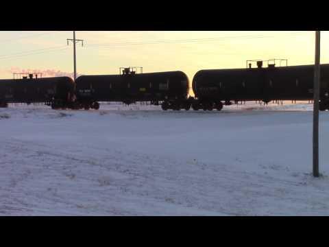 DMVW freight train northbound near Falkirk Jct, North Dakota