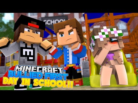 BABY DONNY SAVES BABY FLO FROM A SCHOOL BULLY ON HER FIRST DAY!! Minecraft Adventure.