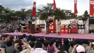 長野県長野市・松代にて行われた「真田十万石まつり」にて、ゲストで登...