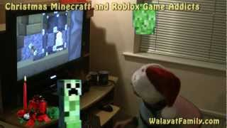 Christmas Minecraft and Roblox 24 hour Game Playing Addicts