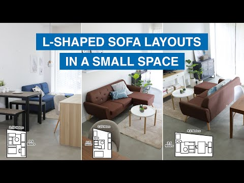 L-Shaped Sofa Layouts in a Small Space   MF Home TV