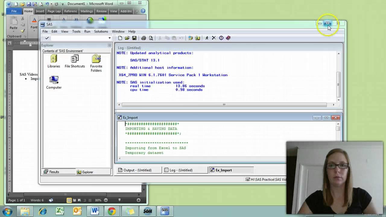 worksheet Sas Import Excel Worksheet sas import and saving basics youtube basics