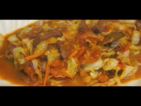 Paano magluto Ginisang Repolyo at Baka Recipe Pinoy Beef Cabbage Tagalog Filipino