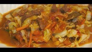 Ginisang Repolyo At Baka Recipe Pinoy Beef Cabbage Tagalog Filipino