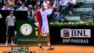 [5/21/2012] Rafael Nadal vs Novak Djokovic 7-5 6-3 FINAL IN ROME MASTERS Internazionali BNL d'Italia
