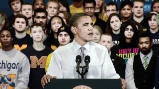 President Obama discusses College Affordability in Michigan