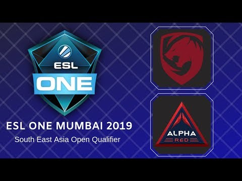 Tigers Vs Alpha Red / ESL One Mumbai 2019 Southeast Asia Qualifier