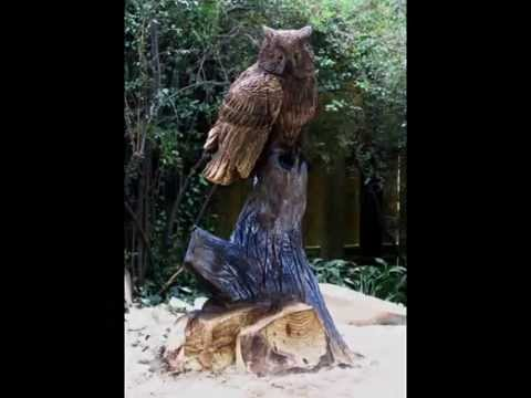 Owl chainsaw carving under minutes episode youtube