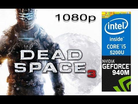 Dead Space 3 on HP Pavilion 15-ab032TX, Max Setting 1080p, Core i5 5200u + Nvidia Geforce 940m