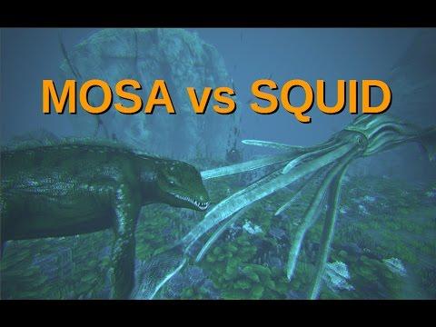 ARK: Mosasaurus vs Tusoteuthis