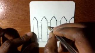How To Draw Cartoon Picket Fence
