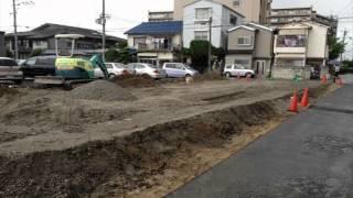 八尾市新築一戸建て 工事4日目外周ブロックの基礎工事工程!by㈱希望.wmv