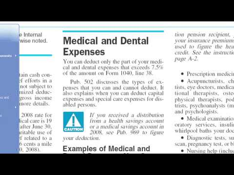 Deducting Medical Expenses On Your Tax Returns