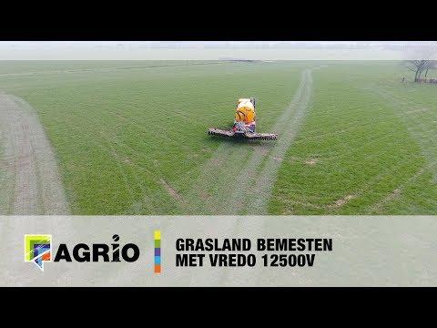 Grasland bemesten met Vredo 12500V  -  Agrio