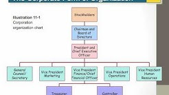 ACCT201 Ch11.1-  Corporate Form of Organization