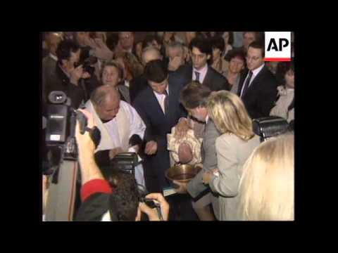 ITALY: GREAT GRANDDAUGHTER OF DICTATOR BENITO MUSSOLINI IS BAPTISED