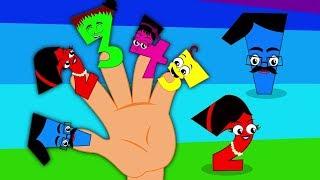 Числа палец семья | рифмы в россии | Kids Songs | Numbers Finger Family