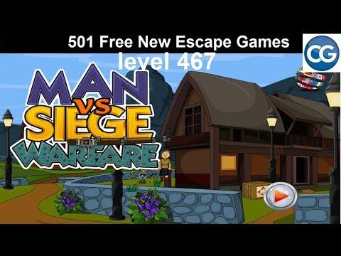 [Walkthrough] 501 Free New Escape Games Level 467- Man Vs Siege Warfare - Complete Game