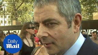 Rowan Atkinson walks the red carpet and talks cars in 2011 - Daily Mail