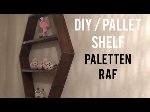 Paletten Raf Yapımı / Making A Shelf From Pallets / Petek Raf Yapımı / Honeycomb Shelf Diy