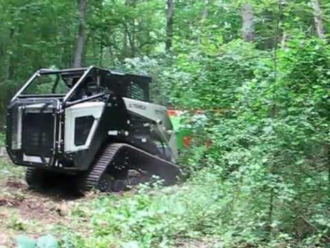 Advanced Forest Equipment Forestry Mulcher On Terex Pt110