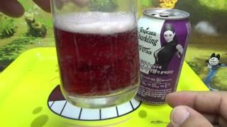 트로피카나 스파클링 포도맛의  탄산 음료수 구입 시음기
