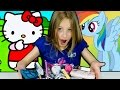 👛 WHAT'S in MY PURSE? 🌼 CUTE IDEAS for Girls Candy Make Up Hello Kitty MLP Monster High Frozen
