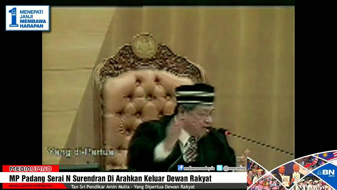MP Padang Serai N Surendran Diarahkan Keluar Dewan Rakyat