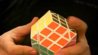 Face-Turning Rhombic Dodecahedron