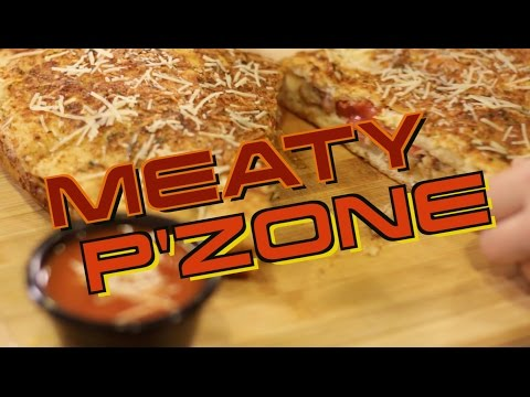 Pizza Hut Meaty P'Zone Recipe Remake SHORT | HellthyJunkFood