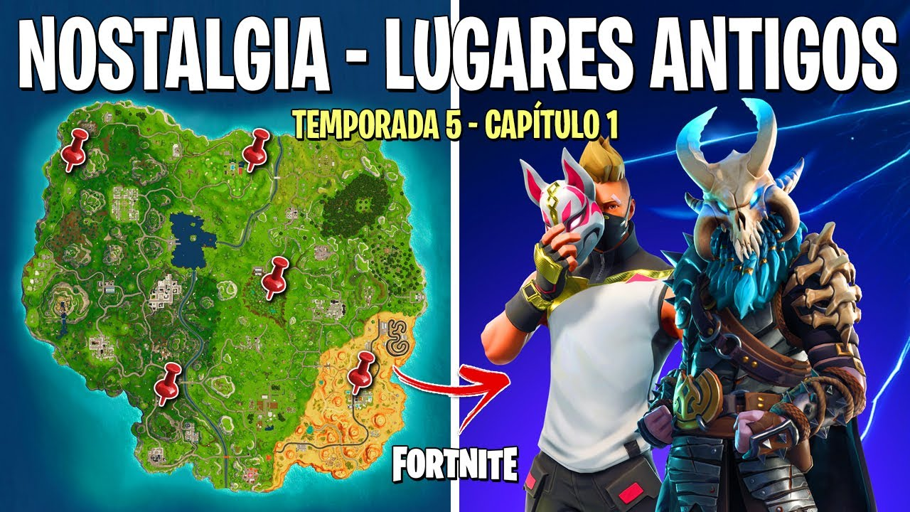 FORTNITE - MAPA ANTIGO DO CAPÍTULO 1 TEMPORADA 5