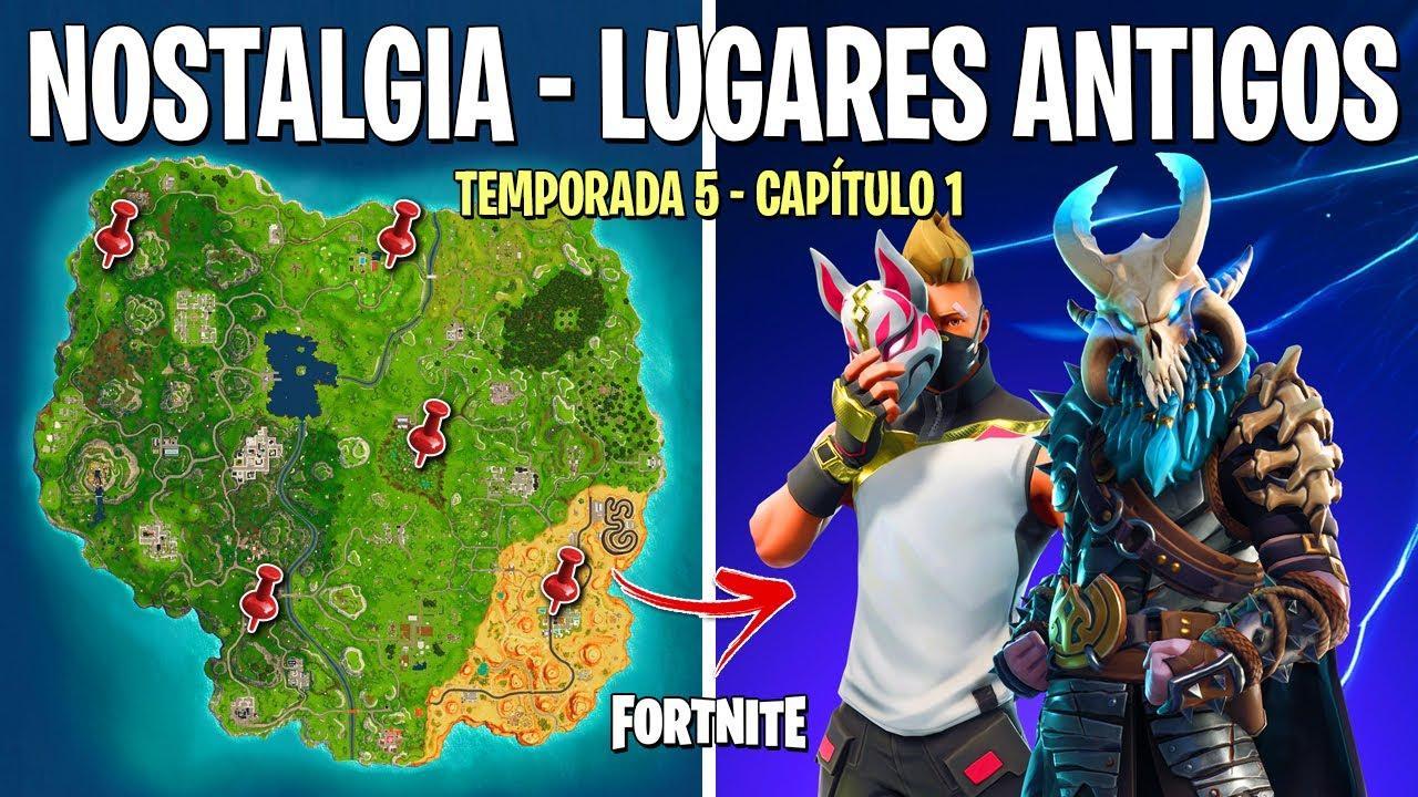 FORTNITE - MAPA ANTIGO DO CAPÍTULO 1 TEMPORADA 5