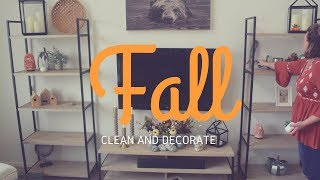 CLEAN AND DECORATE FOR FALL || Decorating and Cleaning Motivation