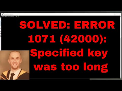 SOLVED: ERROR 1071 (42000): Specified key was too long; max key length is 767 bytes