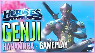 Genji Gameplay on Hanamura - Heroes of the Storm