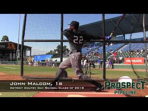 John Malcom Prospect Video, 1b, Detroit Country Day School Class of 2018