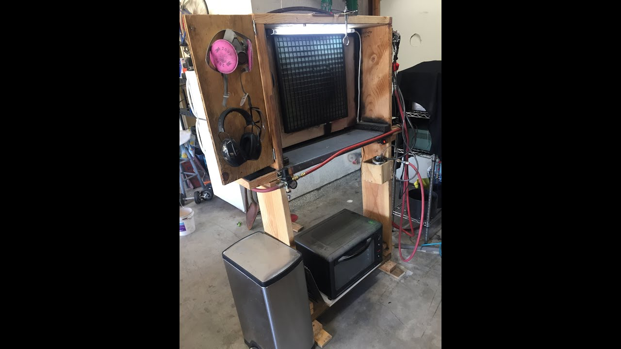 diy powder coating booth blast cabinet updatez eastwood