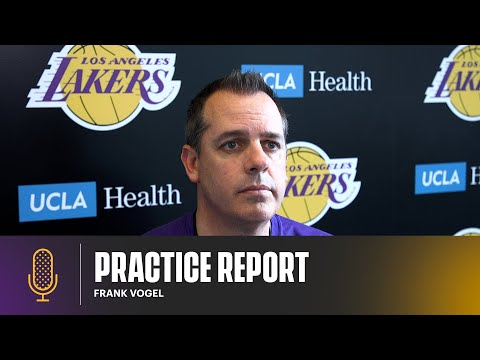 Frank Vogel discusses the play of Kyle Kuzma, KCP, and looks ahead to game three   Lakers Practice