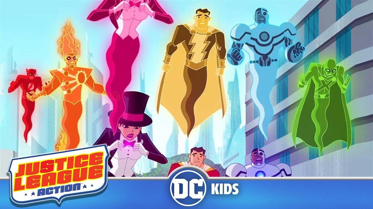 Justice League Action em Português | Confusão da Liga da Justiça | DC Kids