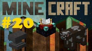 Minecraft Стол зачарования, наковальня и коровья ферма