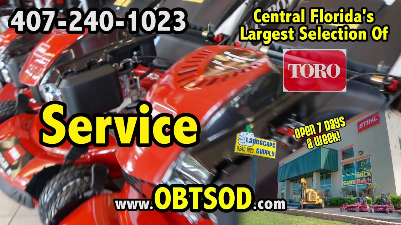 Toro Lawn Mower Repair Parts Service In Orlando Youtube