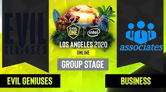 Dota2 -  Business associates  vs. Evil Geniuses - Game 3 - Group Stage - NA - ESL One Los Angeles