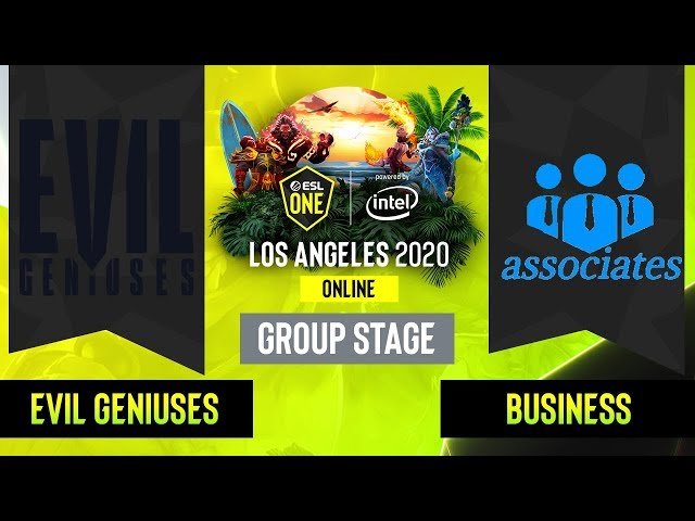 Dota2 -  Business associates  vs. Evil Geniuses - Game 3 - Group Stage - NA - ESL One Los Angeles