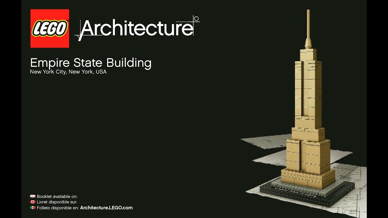 Lego Architecture Empire State Building 21002 Instructions Diy New