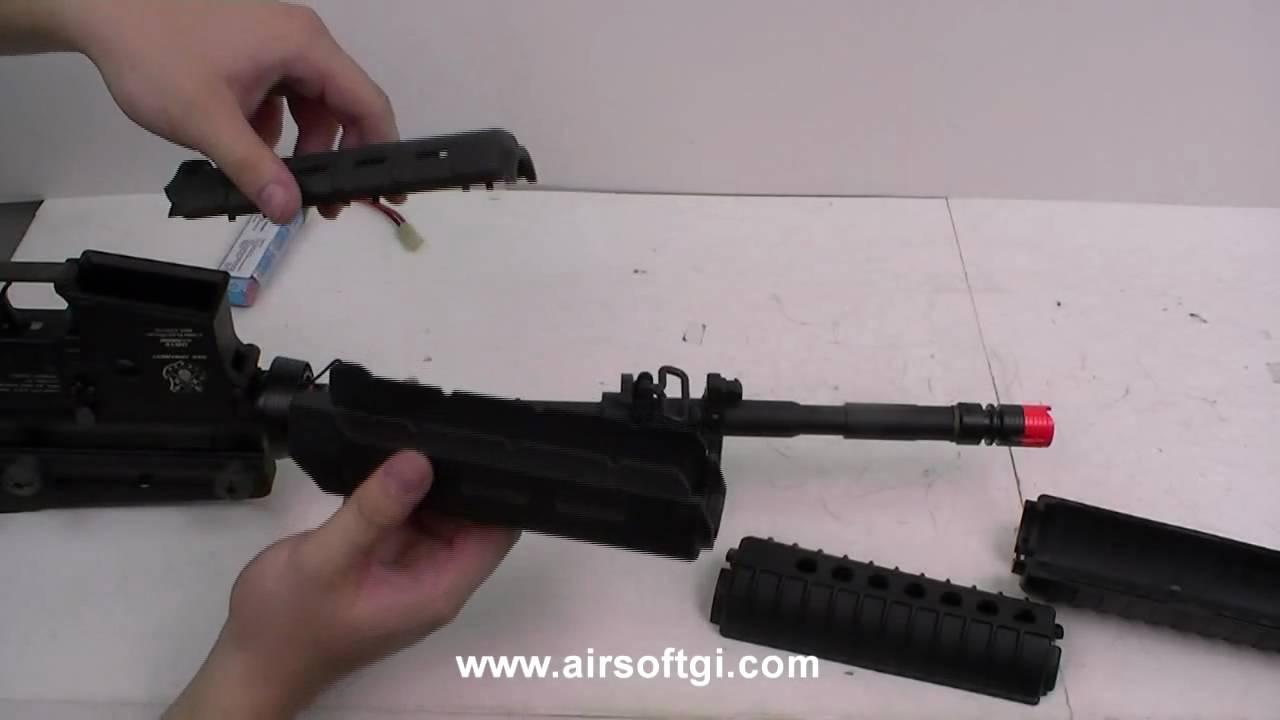 airsoft gi 101 m4 handguard and battery installation magpul m4 firearms airsoft gi 101 m4 handguard and battery installation magpul handguard install youtube
