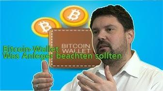 Bitcoin-Wallet: Was Anleger beachten sollten